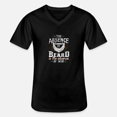 Beard funny beard shirt / bearded - Men's V-Neck T-Shirt