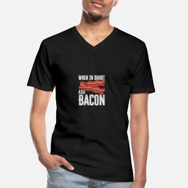 Bandes De Cuir For Bacon Lovers My Favorite Animal Is Bacon - T-shirt col V Homme
