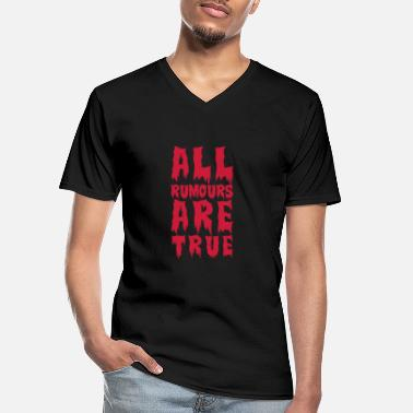 Texto all are true (eu) - Camiseta con cuello de pico hombre