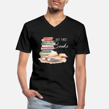 Book Book Nerd Bibliophile Book Lover Literature - Men's V-Neck T-Shirt