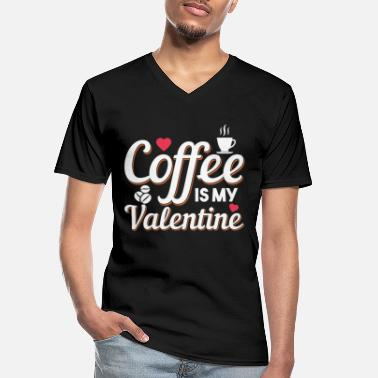 Romantic Womens Funny Valentine's Day Coffee Design - Men's V-Neck T-Shirt