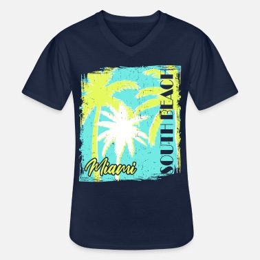 Spring Break Style des années 60 à Miami South Beach - T-shirt col V Homme