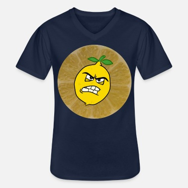 Sour sour lemon is sour - Men's V-Neck T-Shirt