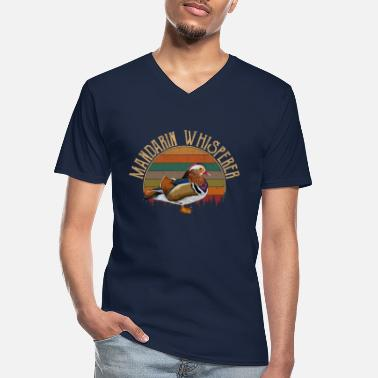 Mandarin mandarin duck whisperer mandarin duck - Men's V-Neck T-Shirt