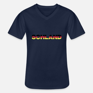 Schland Schland colors - Men's V-Neck T-Shirt