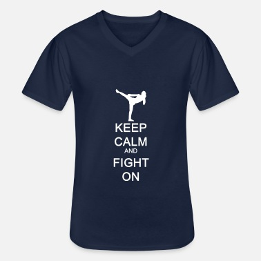 England Keep Calm and Fight On gift idea - Men's V-Neck T-Shirt