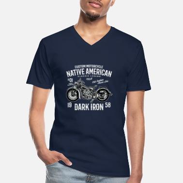 Vintage Oldtimer Moto T-shirt hommes avec Cafe Racer-Hommes Motard Shirt