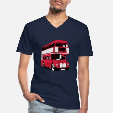Bus London-Bus (3 color) - Men's V-Neck T-Shirt