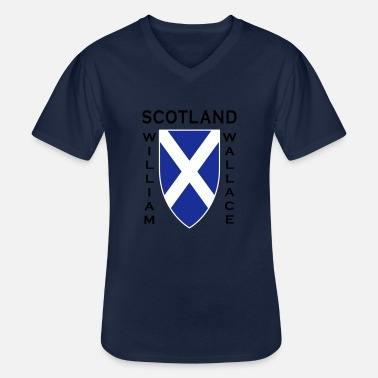 William Wallace Ecosse William Wallace II - T-shirt col V Homme