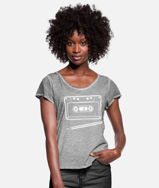 Pen T-Shirts - The relationship - Women's Ruffle T-Shirt vintage grey