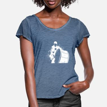 Drums Big drum orchestra band concert gift idea - Women's Ruffle T-Shirt