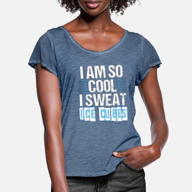 Cubes I AM SO COO I SWEAT ICE CUBES - Frauen T-Shirt mit Flatterärmeln