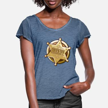 Lasso Big sheriff star - Women's Ruffle T-Shirt