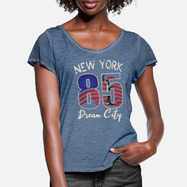 City New York City - Vrouwen T-shirt met zwierige mouwen