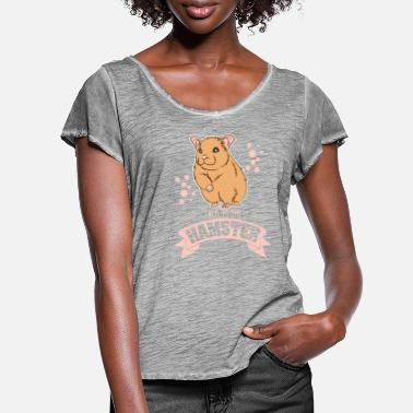 Talking Talk To The Hamster - Women's Ruffle T-Shirt