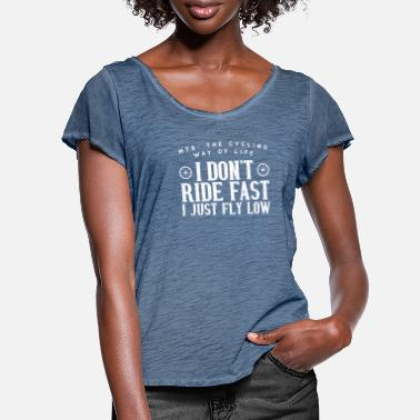 Just Fly Cool I Do not Ride Fast. I Just Fly Low - Women's Ruffle T-Shirt