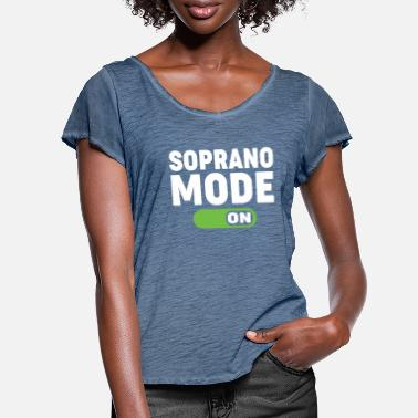 Soprano soprano mode on - Women's Ruffle T-Shirt