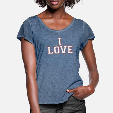 I Fucking Love Her Funny Partner Set Gifts Matchin - Women's Ruffle T-Shirt