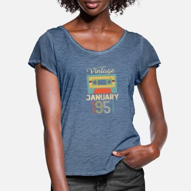 Established Vintage January 70 Year 1951 70th Birthday Gift - Women's Ruffle T-Shirt