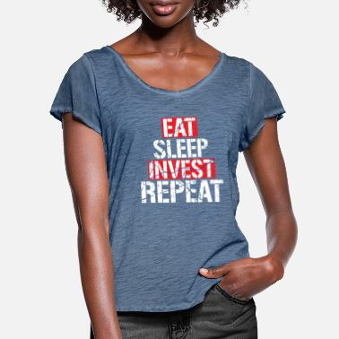Invest Investing investment - Women's Ruffle T-Shirt