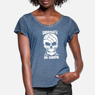 Dominant Wife Water Polo Waterpolo Dominate or Drown Skull - Women's Ruffle T-Shirt