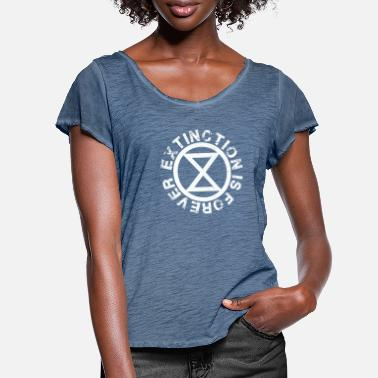 Rebellion Extinction is Forever - Women's Ruffle T-Shirt