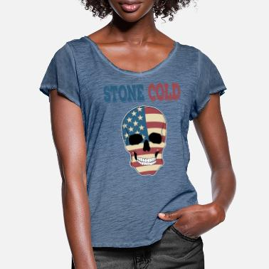 Stone Fierce and creepy Stone Cold tee design. - Women's Ruffle T-Shirt