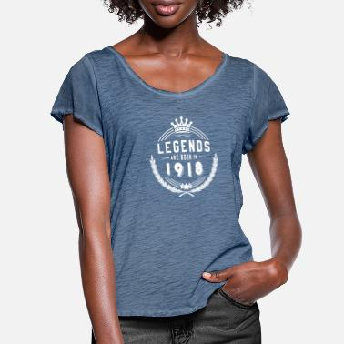 1918 Legends skjorta - Legends föds 1918 - T-shirt med fjärilsärmar dam