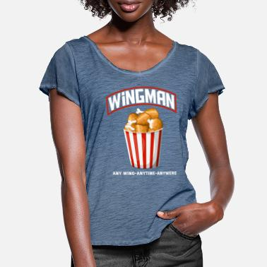 Wings Chicken Wings Lover Chicken Wings Fan - Vrouwen T-shirt met zwierige mouwen