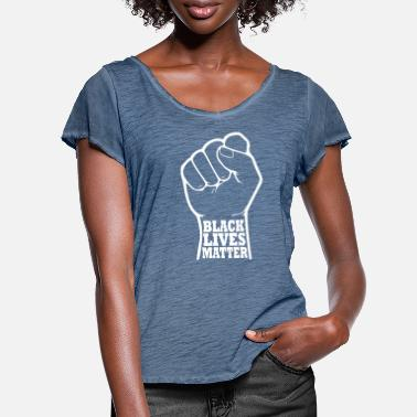Revolution Black lives matter - Women's Ruffle T-Shirt