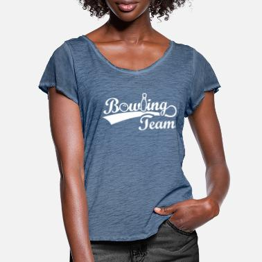 Bowling Tour Bowling Team - bowling tour ball - Women's Ruffle T-Shirt