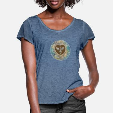 Owl Great owl eagle owl bird tshirt - Women's Ruffle T-Shirt