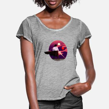 Kylo Ren Sunset Ren - Women's Ruffle T-Shirt
