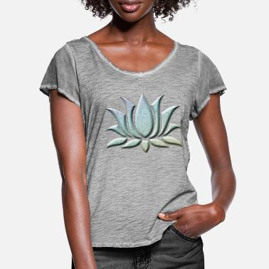 Atlantis Lotus_flower_light_stone_atlantis - Frauen T-Shirt mit Flatterärmeln