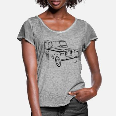 Land Land Rover Series 88 Land Landie Landy - Women's Ruffle T-Shirt