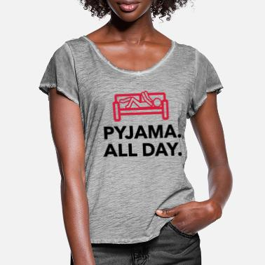 Since Underwear Throughout the day in your pajamas! - Women's Ruffle T-Shirt