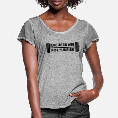 Memes Excuses are for Pussies - Women's Ruffle T-Shirt