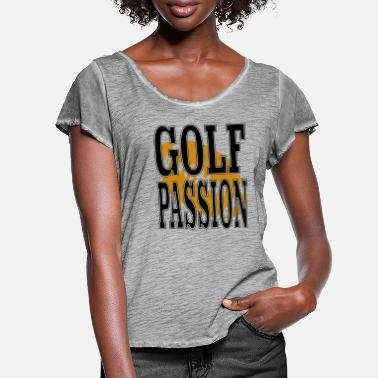 golfpassion football black - Women's Ruffle T-Shirt