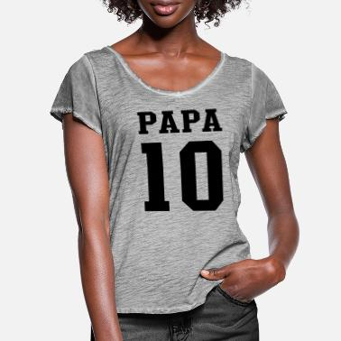 Papa 2010 PAPA 2010 Football - Women's Ruffle T-Shirt