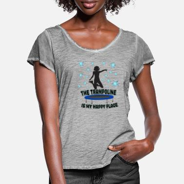 Jumpstyle Jumping Trampoline Jumping Jumpstyle Jump Fitness - Vrouwen T-shirt met zwierige mouwen