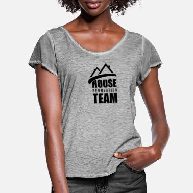 Renovate Renovate Renovation Renovate House Renovate - Women's Ruffle T-Shirt