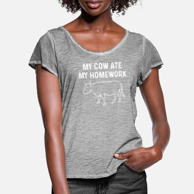 Farming Cow farm - Women's Ruffle T-Shirt