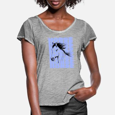Horse Lover Horse Head - Women's Ruffle T-Shirt