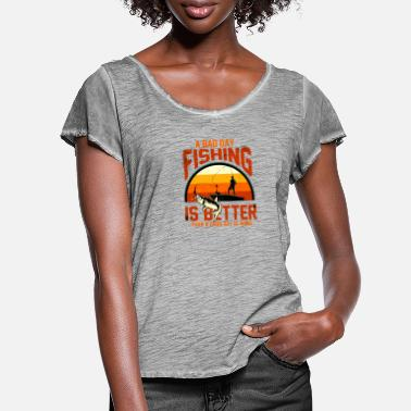 fishing ist better then work - Frauen T-Shirt mit Flatterärmeln