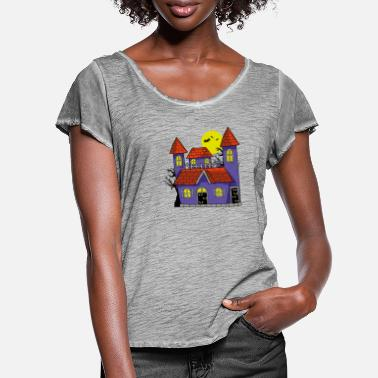 Haunted House Haunted house - Women's Ruffle T-Shirt