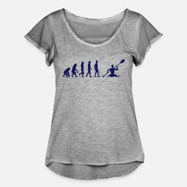 Evolution Canoe Canoe evolution - Women's Ruffle T-Shirt