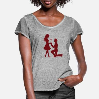 Application Lovers / Application - Vrouwen T-shirt met zwierige mouwen