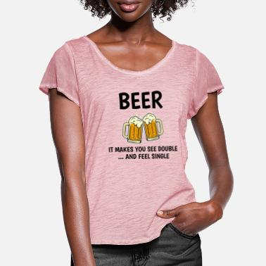 Memes Beer Humour Funny Alcohol Sayings Meme Sarcastic - Women's Ruffle T-Shirt