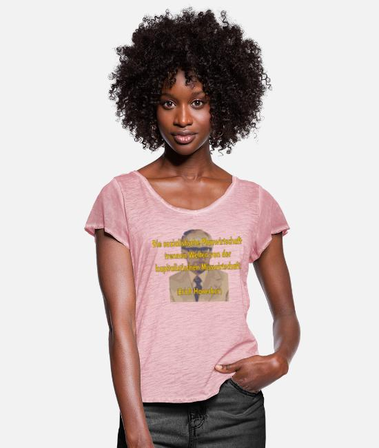 GDR T-Shirts - socialist planned economy - Women's Ruffle T-Shirt vintage rose
