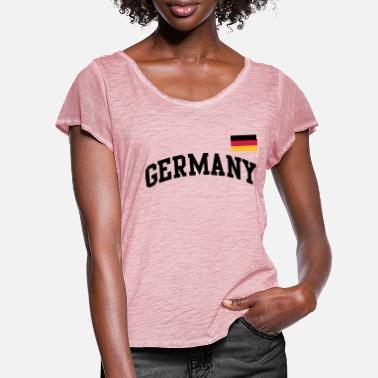Germany Flag Germany flag - Germany Germany flag flag - Women's Ruffle T-Shirt